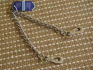 Coupler Chain for walking 2 dogs- Chain coupler lead