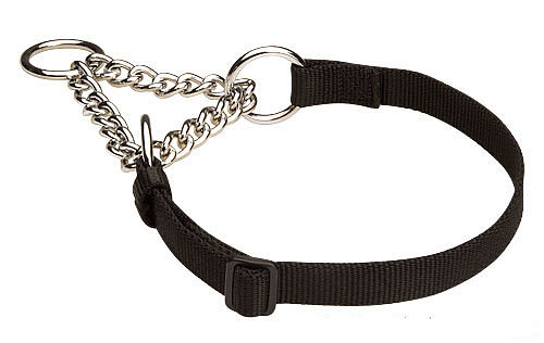 Black martingale collar for Mastiff 4/5 inch (20 mm)
