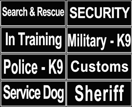 ID Patches for Mastiff Collar C48, H17 and H6P Harnesses