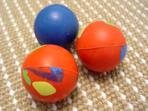 Crazy Color Rubber Ball for playing 2 1/3 inch (6 cm)