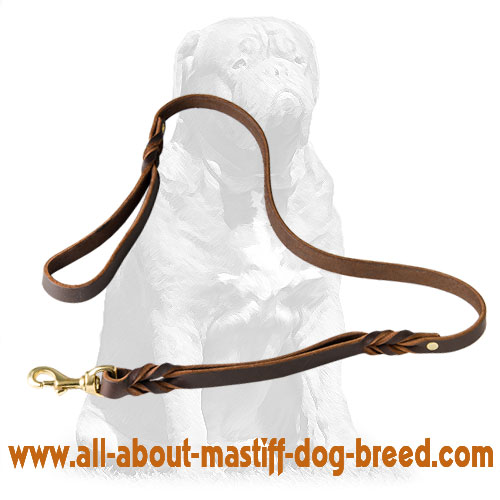 Tear-proof  leather dog leash