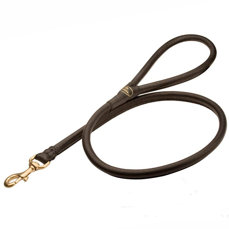 Mastiff Round Leather Lead