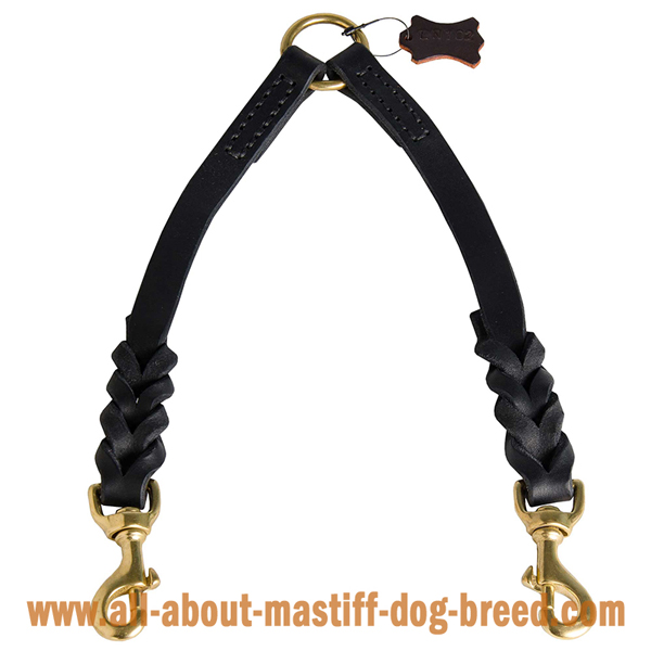 Mastiff Dog Coupler for Walking Using 1 Leash for 2 Dogs
