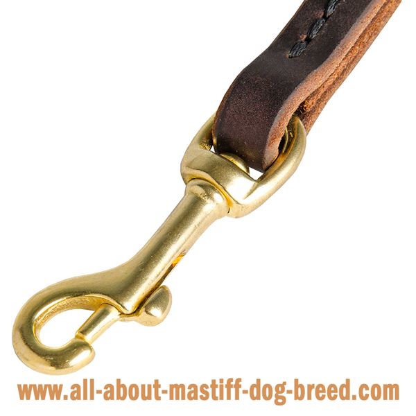 Mastiff leash made of top quality leather