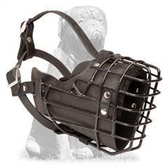 Mastiff Padded Wire Basket Dog Muzzle Any Season for  Walking and Training